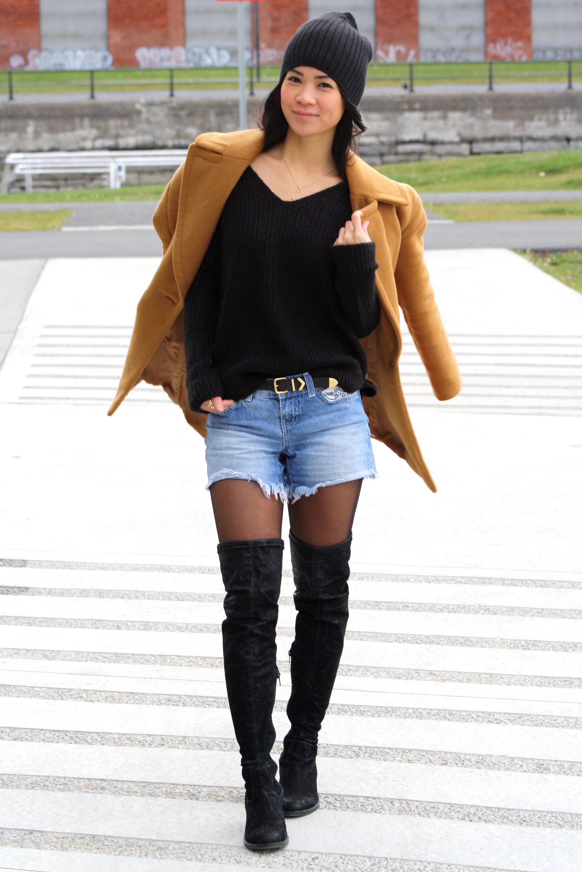 Shorts With Thigh High Boots - Yu Boots